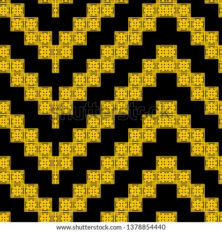 cool black yellow Art Deco pattern in ethnic style Aztec style hipster style
