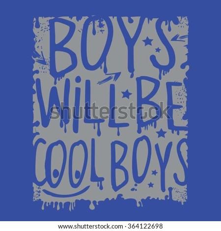 cool boys typography  t shirt