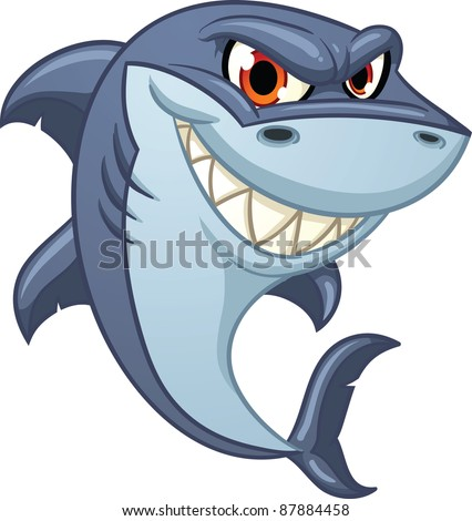 cool cartoon shark vector