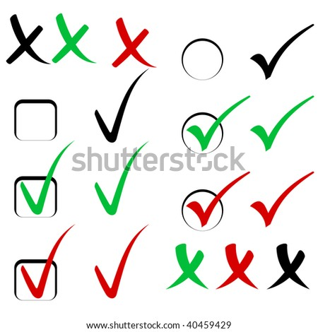 Cool check sign set vector