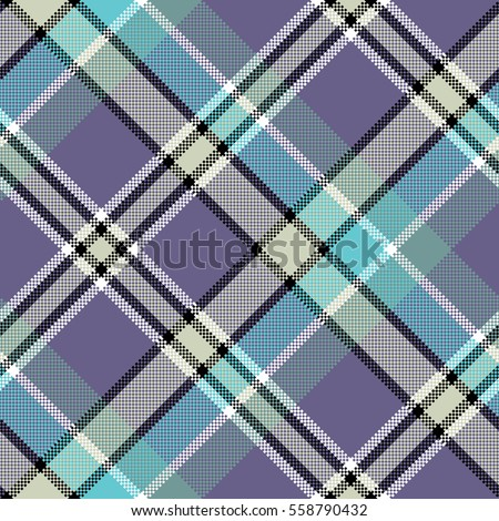 cool color diagonal fabric