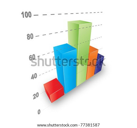 Cool 3D graph. Vector file.