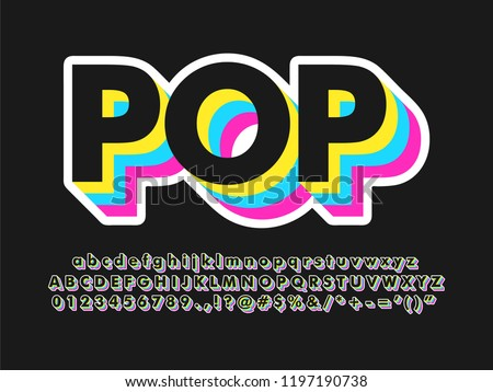 cool dark pop art text effect with simple color design for pop music and arts, poster banner and flyer design