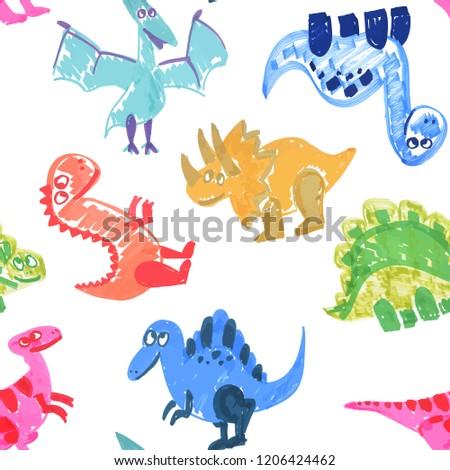 cool dinosaurus pattern hand