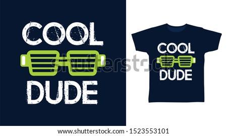 cool dude glasses stylish t