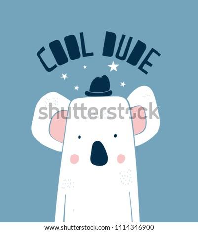 Cool dude koala vektor illustration.