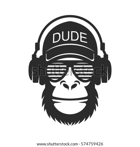 cool dude monkey with glasses