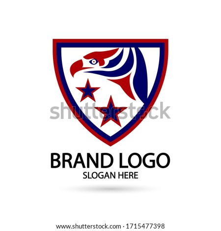 Cool Eagle Logo. For modern Business company brand logo design vector illustration.