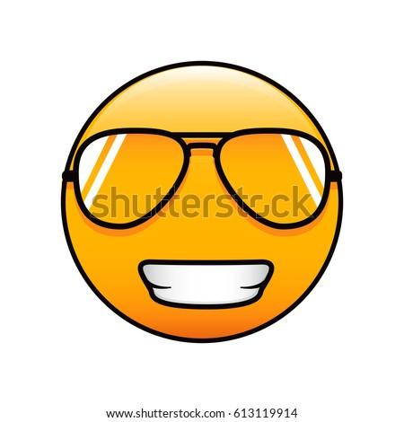 cool emoticon in sunglasses