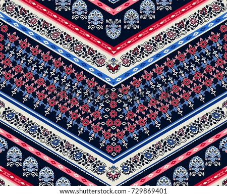 Cool ethnic geometric design. seamless background