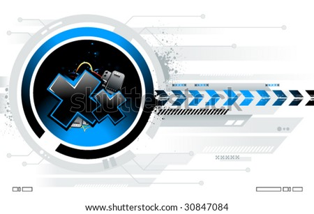 Cool futuristic background for your creative design