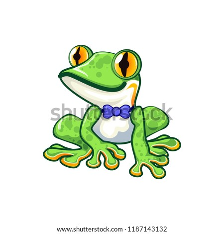 cool green frog