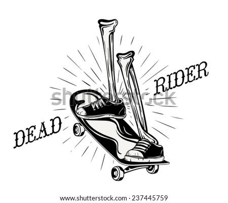 cool grunge logo for a skater