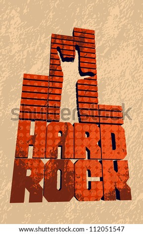 cool grungy hard rock banner