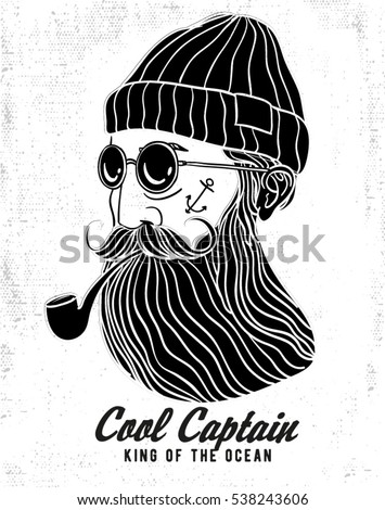 cool hipster captain