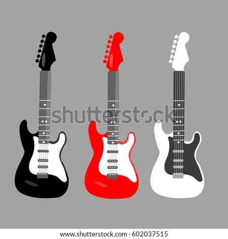 cool horizontal electric guitar