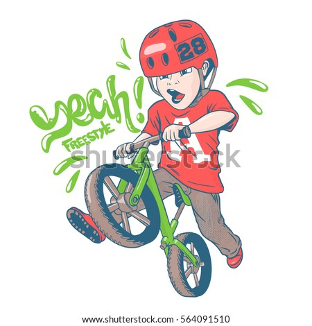 cool kid on balance bike