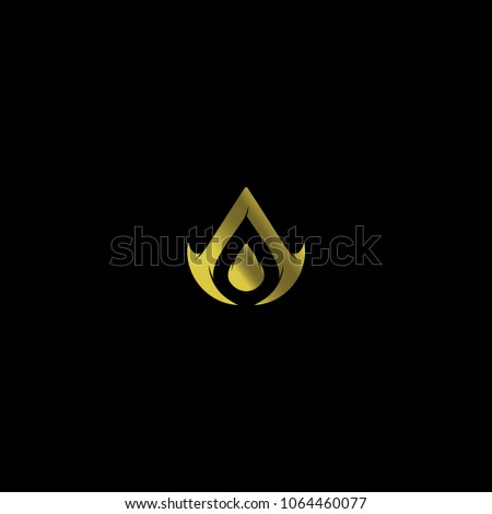 cool letter a gold logo