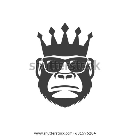 cool monkey in sunglasses and