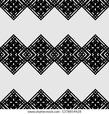 cool monochrome Art Deco pattern in ethnic style Aztec style hipster style