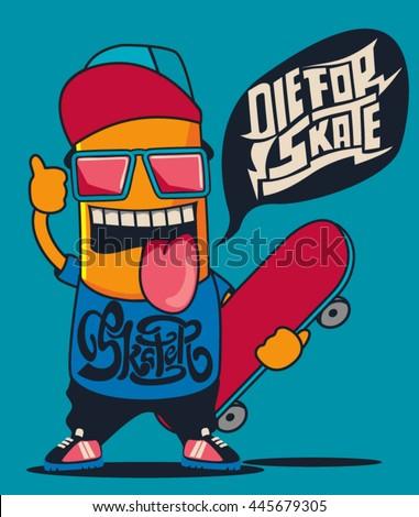 cool monster  skater