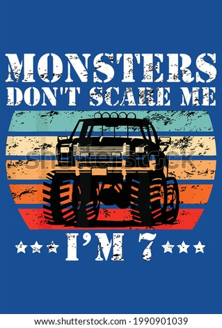 cool monster truck birthday
