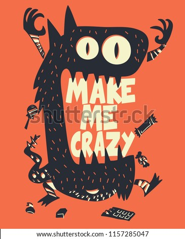 Cool monster vector design