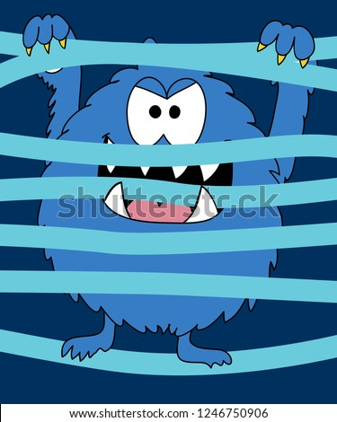 Cool monster vector design for t shirt printing