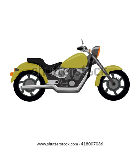 cool motorcycle isolated on