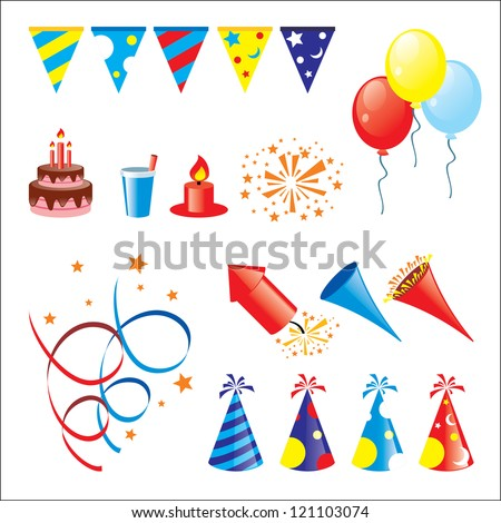 Cool Party Stuff Icon Pack In Higher Detail Stock Vector 121103074
