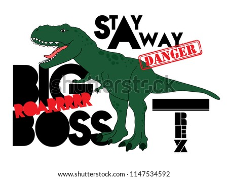 cool print with a dinosaur and