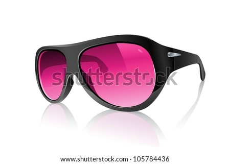 Cool Realistic Pink Plastic Black Sunglasses