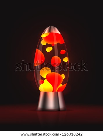 cool red glowing lava lamp