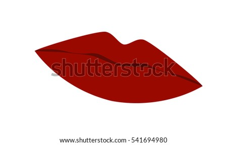 cool sexy lips kiss isolated on