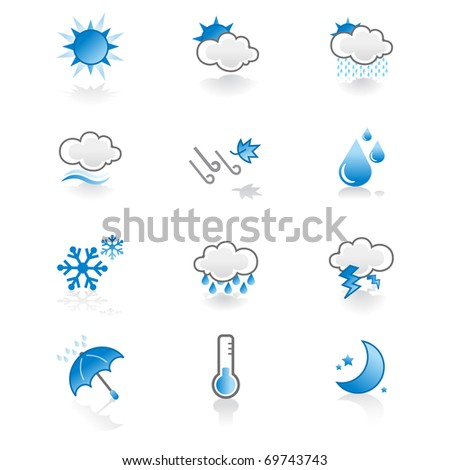 cool, simple weather icon set