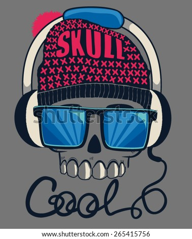 cool skull design for tee