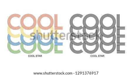 cool star slogan, textile printing drawing, t-shirt graphic design - Vector