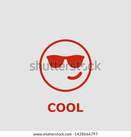Cool symbol. Outline cool icon. Cool vector illustration for graphic art.