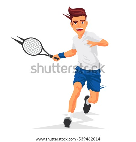 cool tennis player with a