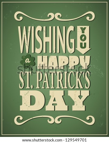 Cool typographic design for St Patrick's Day