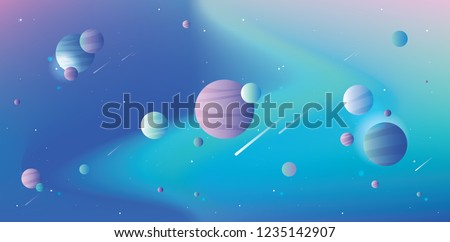 cool universe scene with
