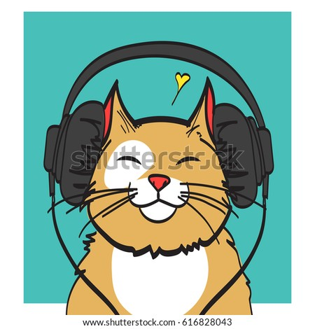cool vector art of cat with