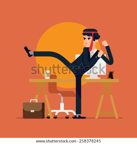 cool vector businessman flat