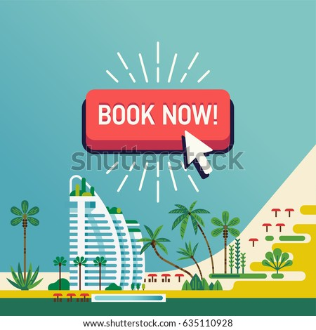 cool vector design on 'book now'