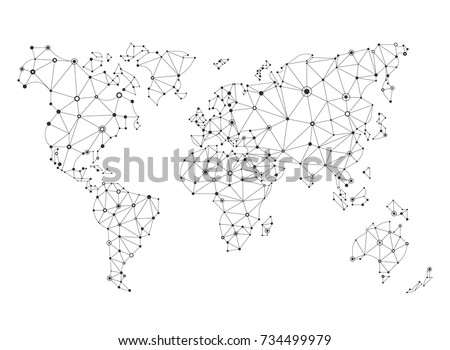 White World Map Vector Download Free Vector Art Stock Graphics