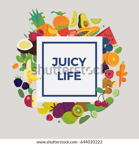 cool vector fruit background