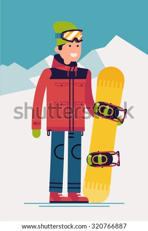 cool vector snowboarder