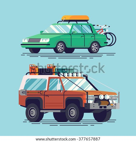 cool vector travel cars icons