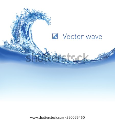 cool water wave illustration