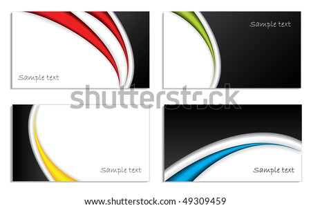Cool waved business card set
